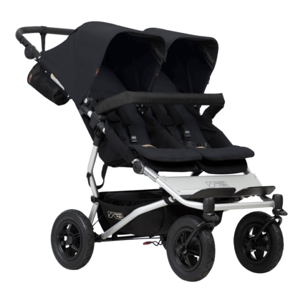 Mountain Buggy duet buggy black 600x600