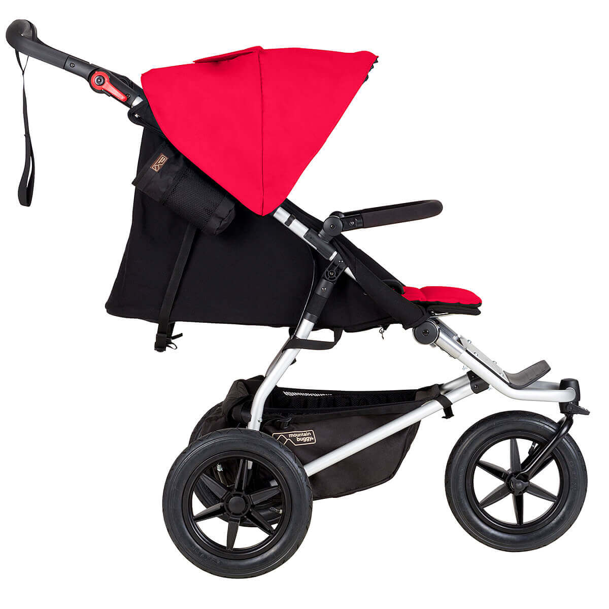 mountain buggy urban jungle 3 wheel original all terrain buggy in full recline position berry