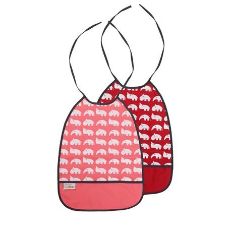 bib 2 pack raspberry tones
