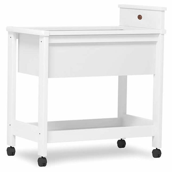 boori squared bassinet white