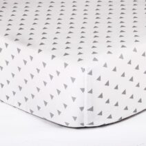 ps fitted sheet grey tiangles