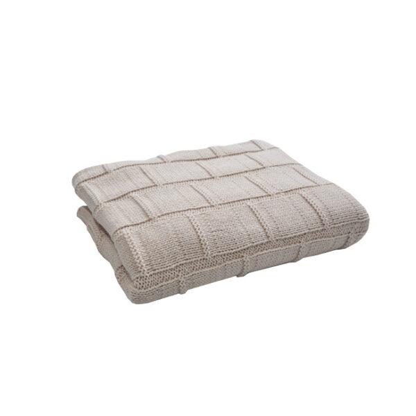 TURTLE BABY Beige Organic Blanket  600x600