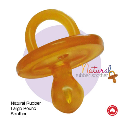 Natural Rubber Soother Round L