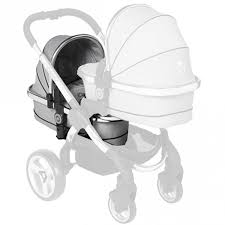 ICANDY PEACH TWIN CARRY COT GREY