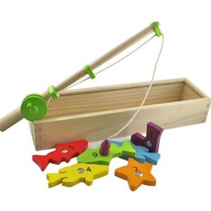 Discoveroo Wooden Magnetic Fishing Game 300x300