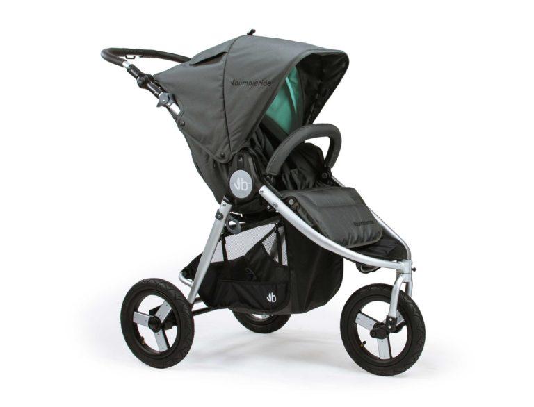 Bumbleride Indie All Terrain Stroller Dawn Grey Mint 1500x1500 768x586