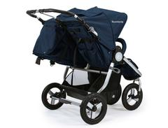 Bumbleride Indie Twin Double Stroller Martime Blue Rear View 240x240