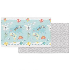 SKIP HOP DOUBLEPLAY REVERSIBLE PLAYMAT – LITTLE TRAVELLERS/HERRINGBONE
