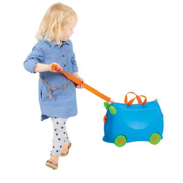 KIDDICARE Bon Voyage Ride On Suitcase Blue LS2 360x