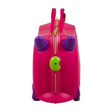 KIDDICARE Bon Voyage Ride On Suitcase Pink Front 360x