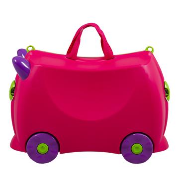 KIDDICARE Bon Voyage Ride On Suitcase Pink Side 360x