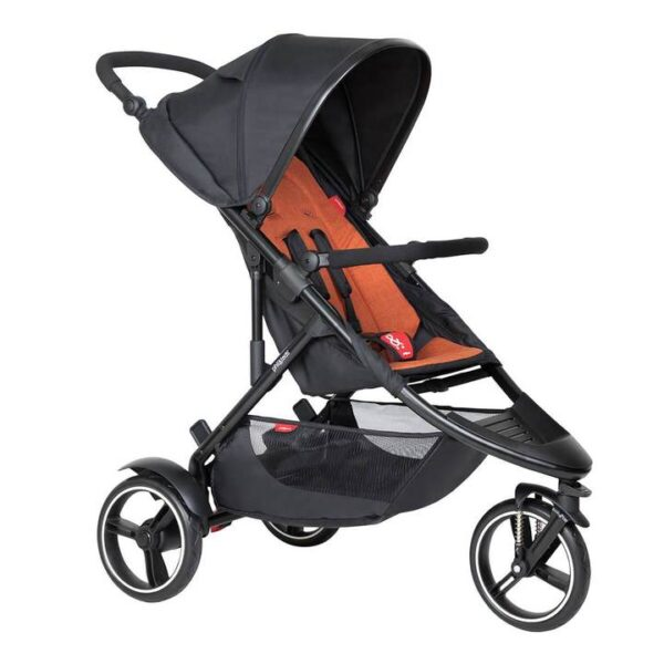 phil teds dot buggy in rust orange colour 720x 600x600