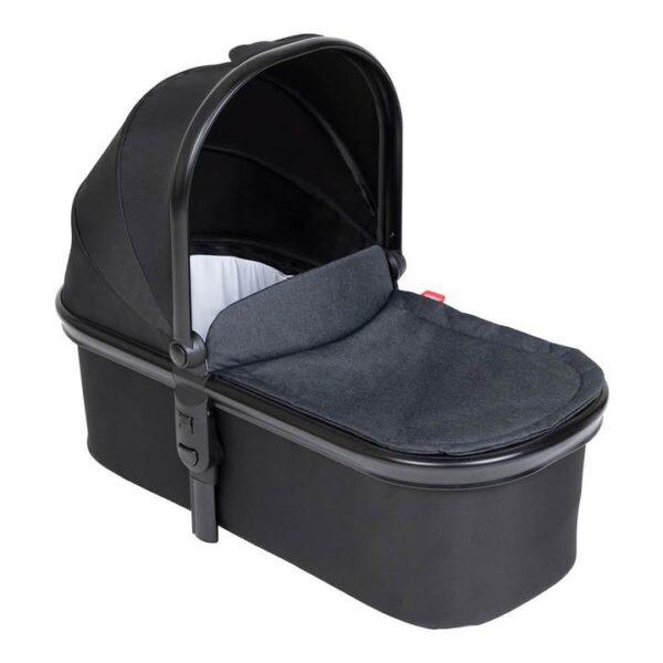 phil teds snug carrycot in black colour 720x 600x600