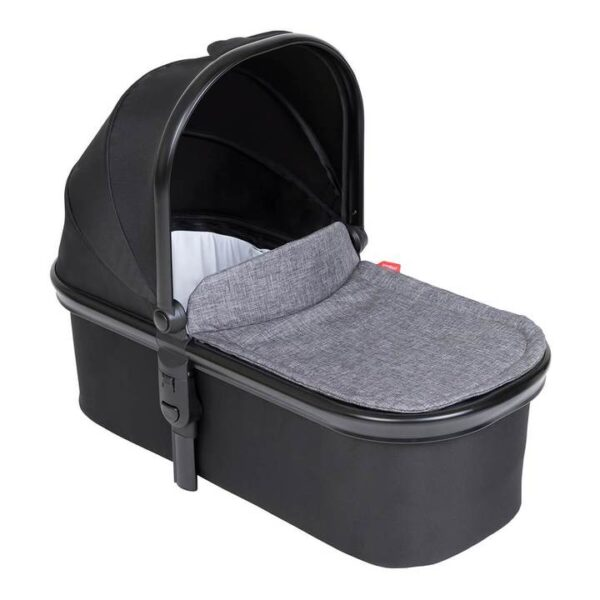 phil teds snug carrycot in charcoal grey colour 720x 600x600