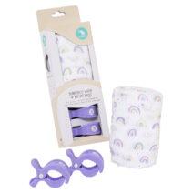 All4Ella Bamboo  Wrap & 2-Pack Pram Pegs – RAINBOW