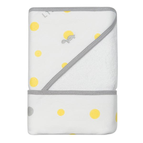 Little Turtle Baby Hooded Towel Yellow Grey Spots folded x c9b5edb1 d02c 4e98 b96b 5446f14251f7 760x