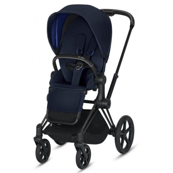 cybex priam pram 2019 matt black indigo blue 600x600