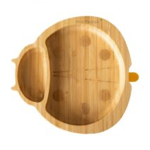 Eco Rascals organic bamboo yellow suction plate – Ladybird