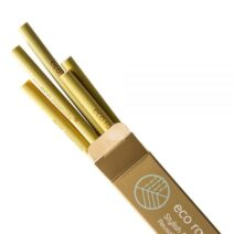 Eco Rascals organic bamboo drinking straws x 5