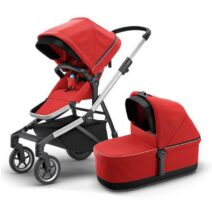 THULE SLEEK ENERGY RED WITH BASSINET