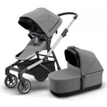 THULE SLEEK GREY MELANGE WITH BASSINET