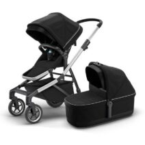THULE SLEEK MIDNIGHT BLACK WITH BASSINET (Copy)