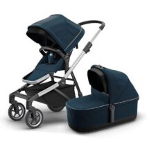 THULE SLEEK NAVY BLUE WITH BASSINET