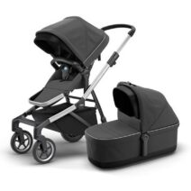 THULE SLEEK GREY SHADOW WITH BASSINET
