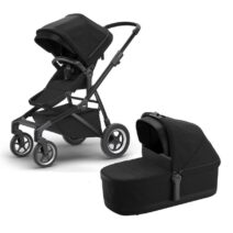 THULE SLEEK BLACK ON BLACK WITH BASSINET