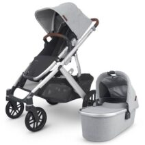 UPPAbaby Vista V2 With Bassinet & Upper Adapters – Grey Brushed Melange – Stella – Limited Edition
