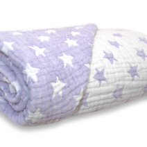 SPOTTY GIRAFFE Six layer Muslin quilt Double sided – VIOLET