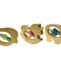 Kaper Kidz Wooden Animal Rattle Teething Toy (Single)