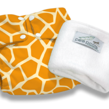 Pea Pods Reusable Nappies – Giraffe Print
