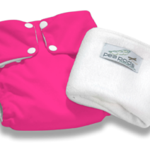 Pea Pods Reusable Nappies – Hot Pink