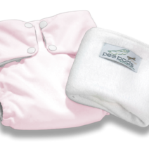 Pea Pods Reusable Nappies – Pastel Pink