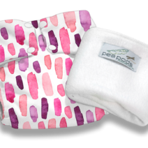 Pea Pods Reusable Nappies – Pink Watercolour