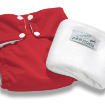 Pea Pods Reusable Nappies – Red