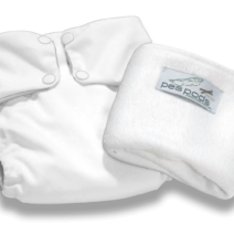 Pea Pods Reusable Nappies – White