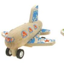 KAPER KIDZ ONE WOODEN PULL BACK AIRPLANE