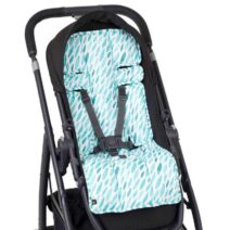 OUTLOOK BABY PRAM LINER – TEAL DROPS