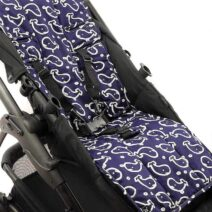 OUTLOOK BABY PRAM LINER – NAVY WHALES