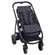 OUTLOOK BABY PRAM LINER – BLACK SWALLOWS
