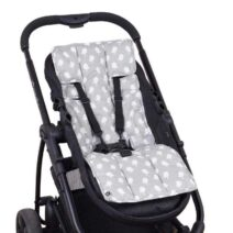 OUTLOOK BABY PRAM LINER – GREY BIRDS