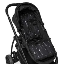 OUTLOOK BABY PRAM LINER -BLACK SILVER ARROWS/SPOTS