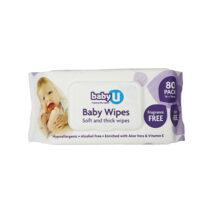 babyU Baby Wipes Fragrance Free 80pk