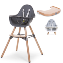 EVOLU 2 HIGHCHAIR, ANTHRACITE / TIMBER TRAY PACKAGE