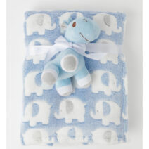 SNUGTIME CORAL FLEECE BLANKET WITH TOY