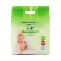 Gaia Natural Bamboo Baby Wipes 240 Wipes Value Pack