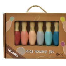 WOODEN BOWLING SET Bottom coloured