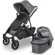 UPPABABY V2 VISTA Incl BASSINET – GREYSON  FREE UPPER ADAPTERS AND SEAT LINER OR PARENT CONSOLE